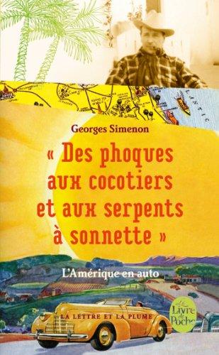 DES Phoques Au Cocotiers... L'amerique En Auto par Georges Simenon
