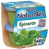 Nestlé naturnes épinards 2 x 130g dès 4/6 mois - ( Prix Unitaire ) - Envoi Rapide Et Soignée