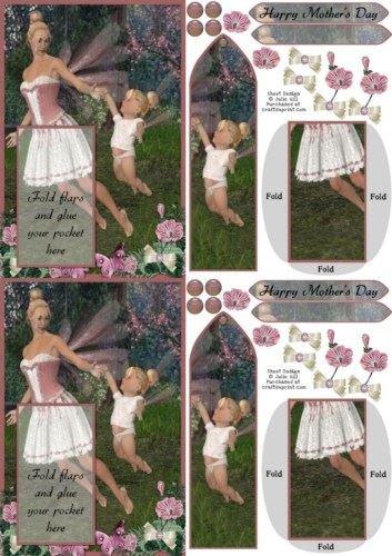 C6fata e segnalibro Baby festa della mamma biglietto di auguri, by Julie Hill