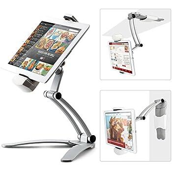 Tablet Tischständer, IKross 2 In 1 Tablethalterung Höhenvertellbar Neigbar  Tabletständer, Küche Tablet Halterung,
