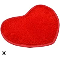 Alfombra de baño con forma de corazón de RUNGAO, suave y absorbente