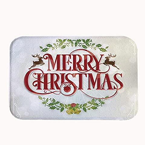 whiangfsoo único de Navidad decro Heavy Duty cocina hogar Felpudo, #01, 16
