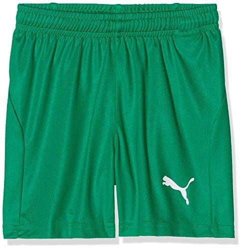 PUMA Kinder Liga Core Shorts, Pepper Green White, 152