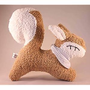 Das zauberhafte Eichhörnchen Elli aus weichem Frottee, auch mit Handtuch und Namensbestickung auf dem Halstuch
