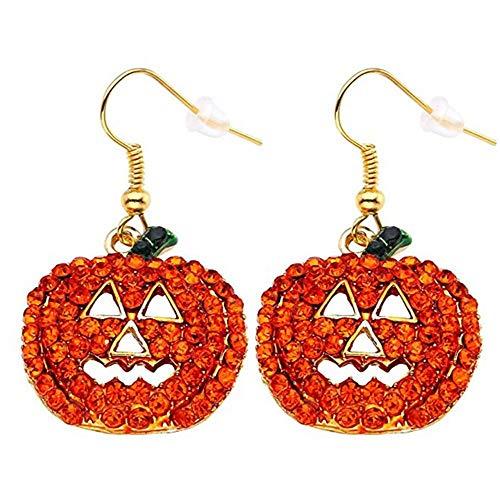 Hxibod Halloween Schmuck Ohrringe Weibliche Modelle Haken Mädchen Kürbis Ohrringe Kleid Maskerade ()