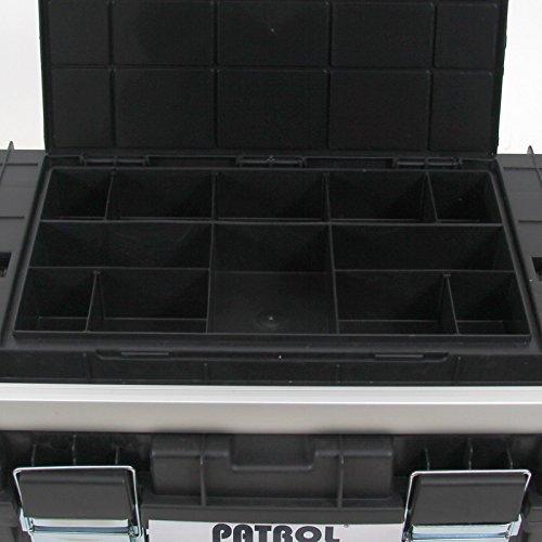 Kunststoff Werkzeugkoffer HD Box Trophy 2 Plus, 80×35,5cm Kasten Werzeugkiste Sortimentskasten Werkzeugkasten Anglerkoffer - 5