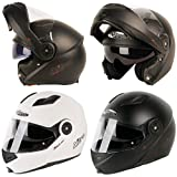 Nitro F345 Motorcycle Bike Flip Up Crash Helmet Integrated Sun Visor DVS