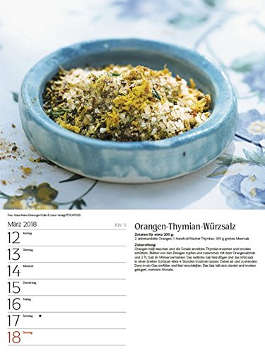 51EEfB2QU5L - Genussvoll Grillen 2018: Foto-Wochenkalender