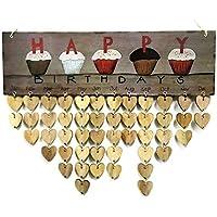 Xiton Famille Anniversaire Calendrier Tenture Rappel d'anniversaire avec Pendentif en Forme de Coeur Décoration