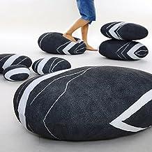 VERCART cuscino di pietra 3d stampato biancheria decorazione a casa Pouf moelleux Personalizzato, Marbre Noir, 7 Pièces