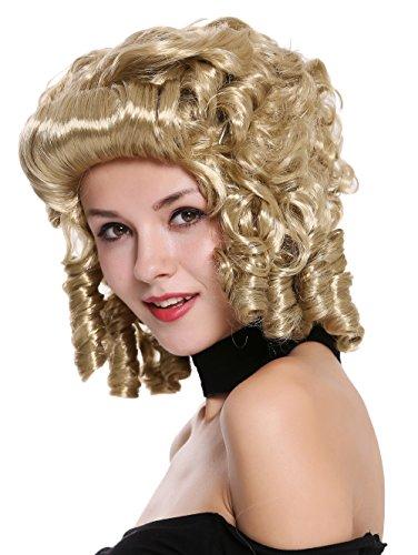 89 Perücke Damen Karneval Fasching Barock Locken Königin Marie Antoinette Adlige Südstaaten Renaissance Blond ()