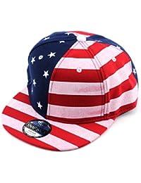 Casquette ajustable à imprimé du drapeau des États-Unis. Produit offert par NYfashion101.