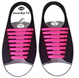 elastische Schnürsenkel – das einfache Schnellschnürsystem für Schuhe – Ersatzschnürsenkel für Erwachsene und Kinder für verschiedene Schuhe geeignet – pinke/ rosa Schnürbänder aus dehnbaren Silikon