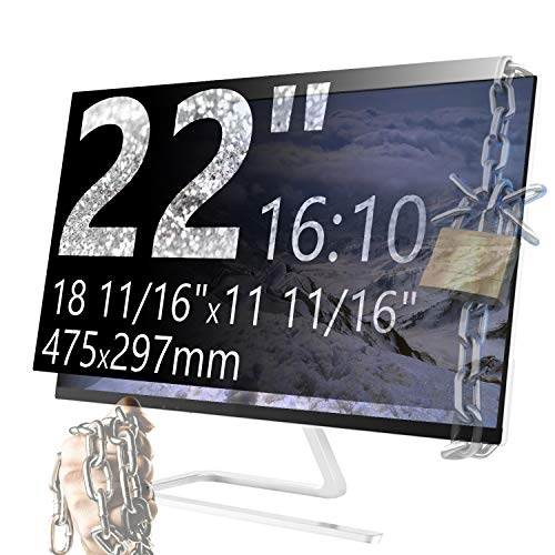 Xianan 22 Zoll 16:10 Breitbild Displayfilter Bildschirmfilter 18,7x11,69zoll/475x297mmv Displayschutz Blickschutzfolie Sichtschutzfolie Privacy Filter