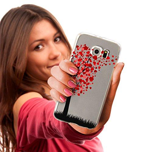 Ooh.Color® Fitty Love Design Case per Samsung Huawei iPhone Cover Custodia Protettivo elastico Print Pattern Transparent Motiv duenne flexibele lusso custodia slim silicone TPU bianco design 5 für iPh design 3