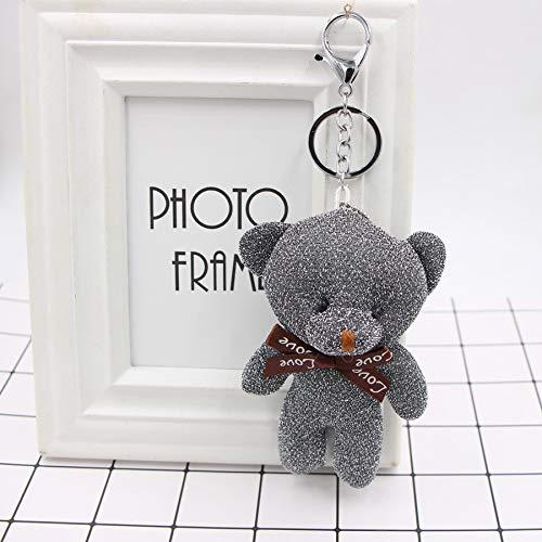 Honta giocattolo per bambini giocattolo di san valentino simpatico orsetto pendente portachiavi borsa a mano auto fascino portachiavi accessori regalo (colore : gray, dimensione : 13x5cm)