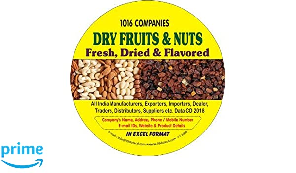 Buy Dry Fruits & Nuts Fresh, Dried & Flavored Data 2018 Book