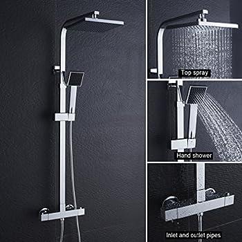 regendusche set duschset ohne duscharmatur bzw