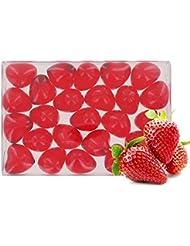 Boîte de 24 perles d'huile de bain fantaisies - Cœur parfum fraise