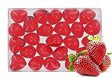 Caja de 24 perlas de aceite de baño fantasías - Corazón perfume fresa