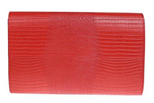 Girly HandBags Animale Impronta Sera della Busta del Sacchetto di Frizione delle Signore Azzurro Marrone Nero Metallo Rosso