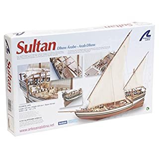 Arabisches Holzmodellboot: Sultan Dhow 1/85