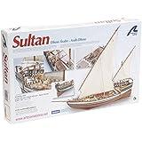 Maqueta de barco en madera: Dhow árabe Sultán