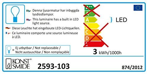 Konstsmide 2592-103 LED Kunststoffstern mit Sterneffekt / für Innen (IP20) / 24V Innentrafo / 20 warm weiße Dioden / transparentes Kabel - 2