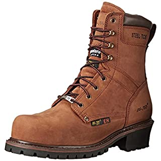 Adtec Men's 9 inch Steel Toe Super Logger Boot, Brown, 11.5 M US
