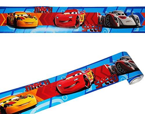 """Preisvergleich Produktbild Wandbordüre - selbstklebend - """" Disney Cars """" - 5 m - Wandsticker / Wandtattoo - Bordüre Aufkleber Kinderzimmer - für Kinder Jungen - Lightning MccQueen / Auto Borte - Wandborte - Borten - Tapetenbordüre / selbstklebende - Wandbordüren - Bordüren"""