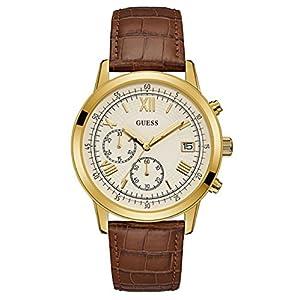 Guess Reloj Cronógrafo para Hombre de Cuarzo con Correa en Cuero W1000G3