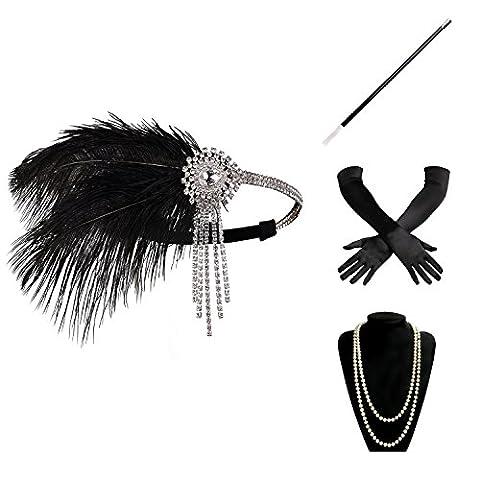 Flappers Costumes - BABEYOND Accessoires Gastby des Année 1920 Costume