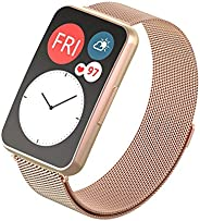 Compatible with Huawei Watch Fit Watch band , Milanese Loop Magnetic Stainless Steel Replacement Wrist Strap B