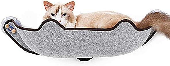 KOBWA Cat Fenster Bett, Cat Fenster Barsch Montiert Cat Bett Seat Liege mit 3 großen Saugnäpfen Cat Resting Sofa Safe Sunbath Hält bis zu 40 £