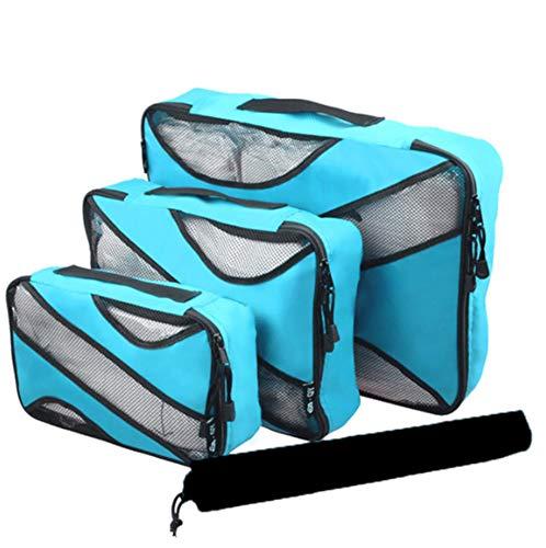 lter, wasserdichte Aufbewahrungstasche, gepäckaufbewahrungstasche unterwäsche Aufbewahrungstasche, verpackungswürfel vierteilig (See blau) ()