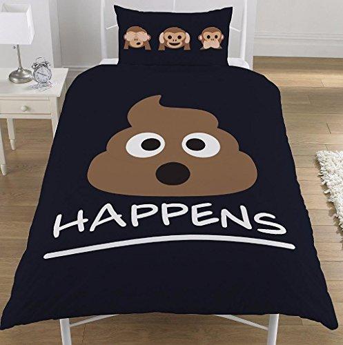 Emoji SH * T sucede personajes Mono Ropa de cama
