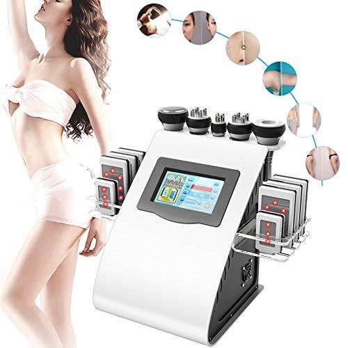 5 in 1 Körperformung Massage Instrument, professionelle 40 Karat Fettmassage Hochfrequenz-Vakuummaschine FDA für Spa Heimgebrauch(01#EU Plug) -