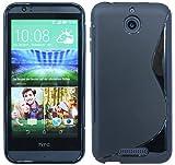 HTC Desire 510 Silikon Hülle Tasche Case Gummi Schutzhülle Zubehör in Schwarz @ Energmix