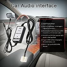 KKmoon 3,5mm Adaptador Audio Aux MP3 Reproductor para Honda Accura Accord Civic Carga Interfaz USB Compatible con iPhone 5s 6 6s 6plus