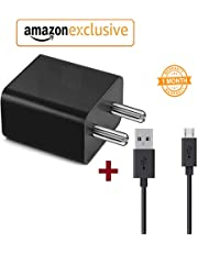 KOTSUN Fast Hi-Speed Charger Power Adapter with Charging Cable Compatible for Xiaomi Redmi Note 3, Redmi Note 5 Pro, Redmi Note 5, Mi Note 4 (Universal 2.4A, Black)