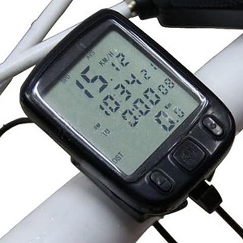 MaMaison007 Exhibición de LED Ciclismo bicicleta bici computadora cuentakilómetros velocímetro