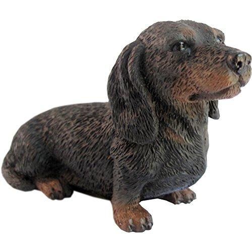 Sandicast schwarz Dackel Skulptur, Schwarz, S Size (Kunststoff Katze Und Hund Figuren)