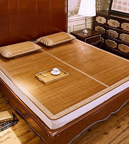 Schlafmatte bequeme Matratze Faltbare bettmatte Supercool Bettwäsche Bambusmatten gewebte Matratze doppelseitige Verwendung für Sommer-Twin / Full / Queen / King Size (Farbe: 1 Mat, Größe: 150 * 195 c - Full Luftmatratze Twin
