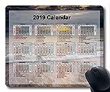 Yanteng Calendrier 2019 avec Blocs de Vacances Importants, Tapis de Souris, Tapis de Souris Gaming Sky Starry