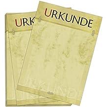 Urkundenpapier A4 im Set (30 Blatt) Aufdruck Urkunde für Zertifikate, Briefe, Urkunden im Verein, Firma, Hochzeit