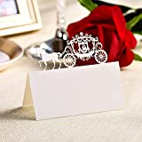 Hyaline&Dora Name Place Cards Laser Cut Table Name Cards For Wedding Birthday Party (60pcs white)