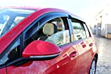 VW GOLF Mk7 2013 onwards 5-DRS Quad Wind Deflectors - 4 PC Set - Rain Shields - Stick On Typ3