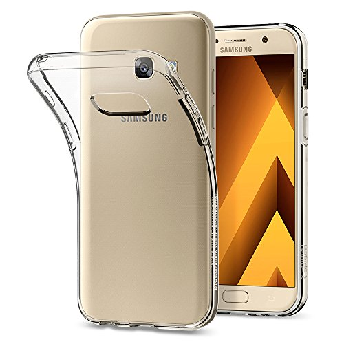 galaxy a3 case Samsung Galaxy A3 2017 Hülle, Spigen® [Liquid Crystal] Flex Silikon [Crystal Clear] Transparent Dünn Bumper-Style Handyhülle Premium TPU Durchsichtige Schutzhülle - Crystal Clear (572CS21141)