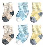 Feoya Babysocken Warm Babysöckchen Herbst Winter Kindersocken Rutschfest 3 Paar Socken Set mit zufällige Farbe-6-12 Monate