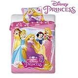 Faro Disney Princess parure de lit pour enfant 140x 200cm (certifié Öko-Tex Standard 100) 001, coton, plus de couleurs, 200x 140cm